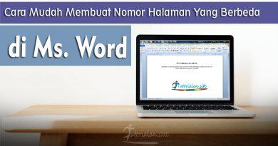 Cara mudah membuat penomoran halaman yang berbeda di microsoft word